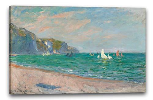 Impresión sobre Lienzo (100x70cm): Claude Monet - Barcos en Frente de los...