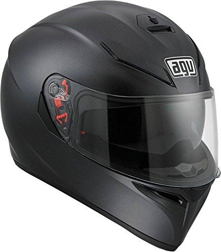 AGV 0101-7487 K-3 SV Motorcycle Helmet (Matte Black, X-Large)
