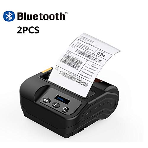 Lowest Price! ZUKN 80MM Mini Portable Thermal Label Printer Supports Wireless Bluetooth Receipt Labe...