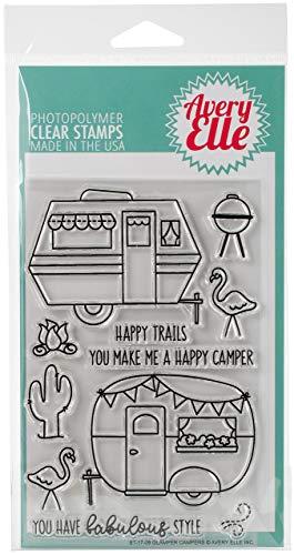 Avery Elle ST-17-09 Clear Stamp Set 4'X6'-Glamper Campers