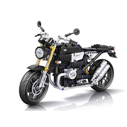 Bybo Technik Motorrad für BMW R NineT, Vintage Supermotorrad, 621 Klemmbausteine Rennen Motorrad Kompatibel mit Lego Technic
