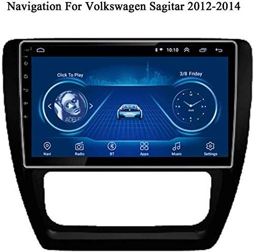 Auto Sat Nav Coche Estéreo 9 Pulgadas IPS Pantalla táctil Android 8.1 Compatible para Sagitar 2012-2014 SWC Online/Offline Map GPS Head Unit Player Multimedia,8 Core 4G+WiFi 2+32GB