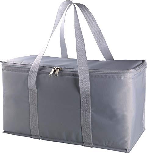 große Kühltasche für Einkäufe, Flaschen oder zum Picknick, grau 38 x 19 x 21 cm von notrash2003