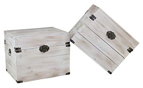 1x braune Holzbox mit Deckel   45x35x35 cm   Neu   schöne Metallbeschläge veredeln die Truhe, Stauraum für Deko, Bilder, Filme - 5