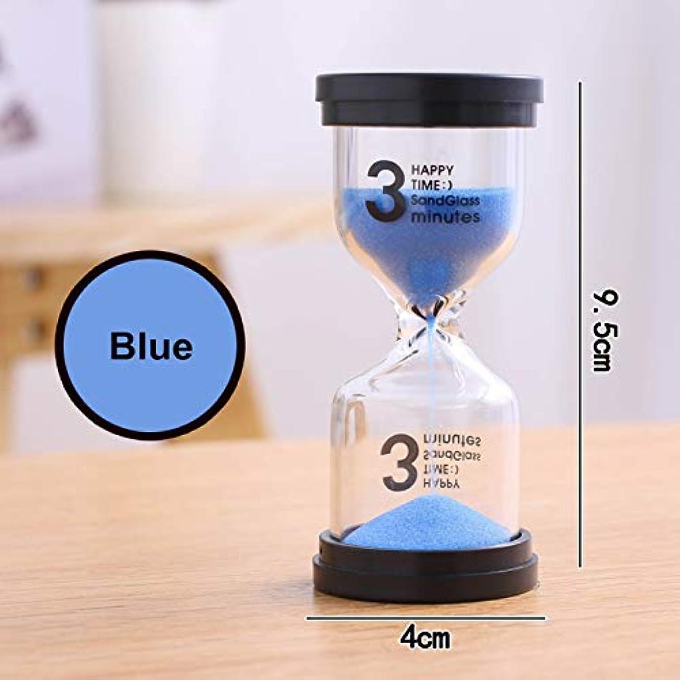 整然とした兄十分XZBBH Hourglass1 / 3/5/10月15日/ 30分タイマー60ミニッツ砂ウォッチ時計の1時間45のミンスギフトタイマーホームデコレーションアクセサリー (色 : 青い, Time : 1min)