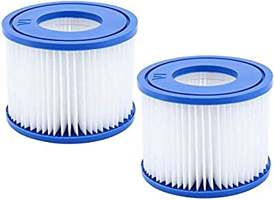 Pool Filter vi, for Bestway Spa Filter Pump Replacement Cartridge Type VI, Hot tub Filters vi for Lay-Z-Spa, for Coleman SaluSpa Filters 90352E Swimming Pool Filter.