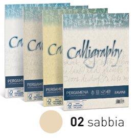 Favini 023048.01 Calligraphy Pergamena A4, 50 Fogli, Sabbia, 90 Gr