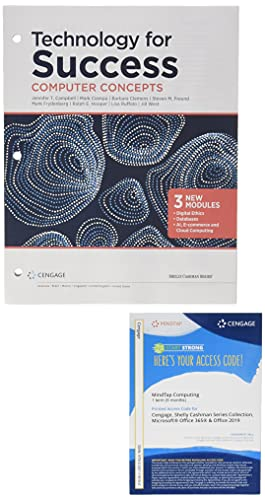 Bundle: Technology for Success: Computer Concepts, Loose-leaf Version, 2020 + MindTap for Cable/Freund/Monk/Sebok/Starks/Vermaat's The Shelly Cashman ... 365 & Office 2019, 1 term Printed Access Card