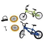 FLAMEER 2 Pièces Jouet de Doigt Mini Vélo BMX Cadeau d'anniversaire pour Fille Garçon
