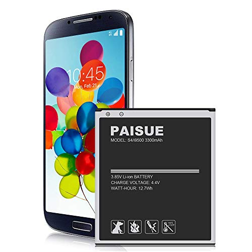 Galaxy S4 Battery, 3300mAh Upgraded Li-ion Battery Replacement for Samsung Galaxy S4 EB-B600BE, I337 AT&T, I545 Verizon, L720 Sprint, M919 T-Mobile, I9506 LTE, I9500, I9505, R970