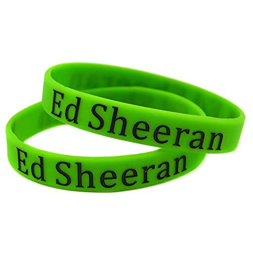 Xi-Link De Silicona Ed Sheeran Ed Sheeran muñequeras Estrella de la Moda protección del Medio Ambiente Debe ser una Pulsera Mano de Ayuda (Color : Green)