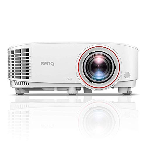BenQ TH671ST 1080p Short Throw Projector | 3000 Lumens for Lights On Entertainment | 92% Rec. 709 for Accurate Colors | Low Input Lag Ideal for Gaming