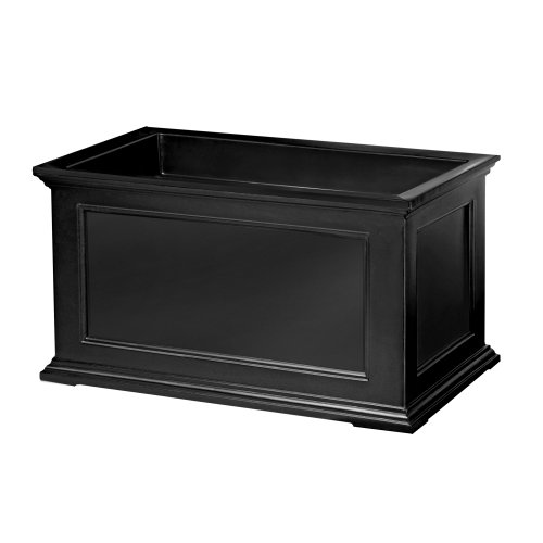 Mayne Fairfield 5826B Patio Planter, 20-Inch by 36-Inch, Black