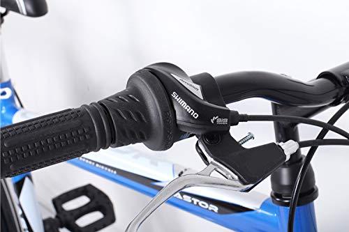 26 Zoll Fahrrad 21-Gang Shimano Schaltung mit Beleuchtung nach STVO Türkis Doppelrahmen - 5