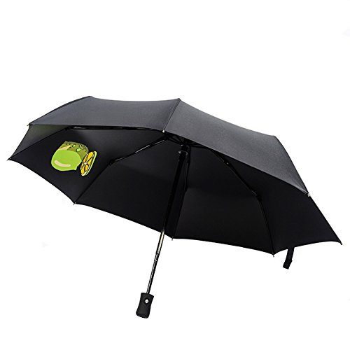 Aguder Windproof Travel Umbrella Golf Umbrellas, Unbreakable Lightweight 8 Ribs Automatic Windproof Canopy Compact Auto Open Close, Black