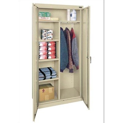 SANDUSKY LEE CAC1361878-09 Classic Series Combination Height Cabinet with Adjustable Shelves, Steel, 78' Height, 36' Width, 18' Length, Black