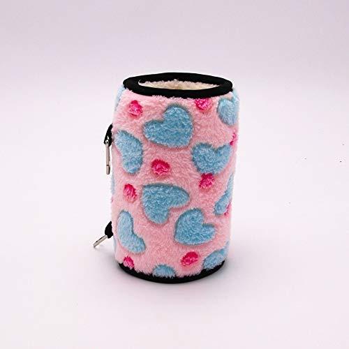 Ysswjzz Pet bed, Small Pet Parrot Hamster Tunnel Nest Dik Warm Cotton Nest, Afmeting: 20x13cm (Color : Pink)