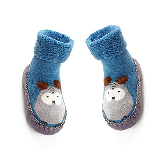 LjzlSxMF 11 cm de bebé Antideslizantes Calcetines Zapatos Botas Transpirable de algodón de Dibujos Animados del Deslizador de los Calcetines para los niños, niños, recién Nacidos-Azul Decoración de