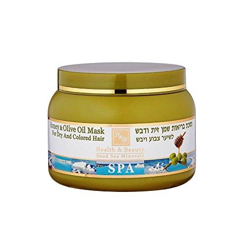 Mer Morte cosmétique - Health and Beauty Dead Sea Minerals - Masque traitant pour cheveux à lhuile d'olive et miel - 250 ml
