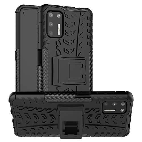 LFDZ Funda Motorola Moto G9 Plus,con Soporte Cáscara de Dob