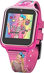 OFFICIAL JoJo Siwa kid's smartwatch with selfie-cam, voice recorder, 3x games, pedometer, alarm, stopwatch, and calculator FUN SELFIE-CAM AND VIDEO, download your awesome photos and videos - share these priceless moments with friends and family in a ...