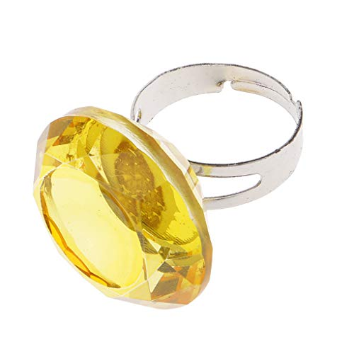 perfeclan Support D'encre De Tatouage De Bague De Colle De Verre De Cristal D'extension De Cil Jaune