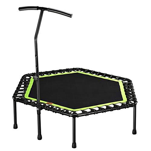 GU YONG TAO 48 Zoll leises Indoor-Trampolin, tragbar Hochwertiges, Robustes Heimtrampolin mit verstellbarem Handlauf-Schutzpolster, passend für Heimsportler, maximal 32 kg