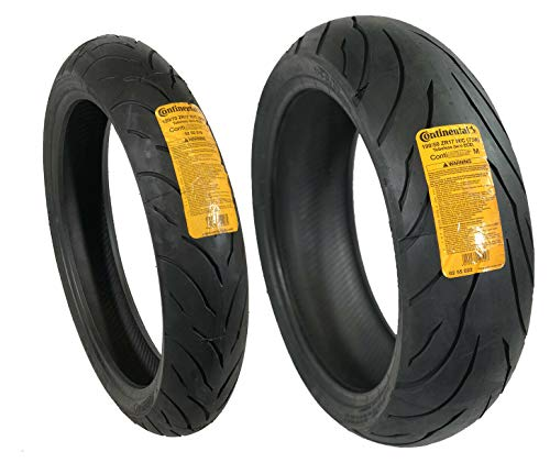 CONTINENTAL MOTION Tire Set 120/70zr17 Front...