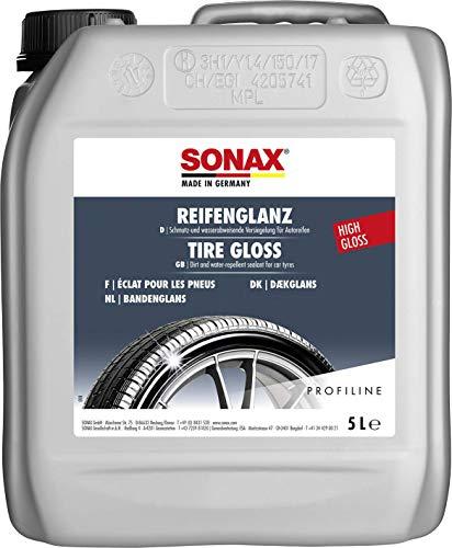 SONAX PROFILINE ReifenGlanz (5 Liter) bringt bei Verwitterung die satte Farbe zurück und sorgt für perfekten Glanz | Art-Nr. 02355000