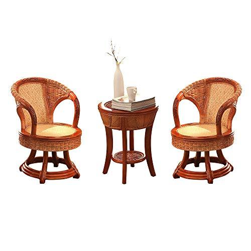 NVBXDF Balcony Lounge Set 2x Chairsrattan And 1x Table Rattan Garden Furniture Set – Balcony Furniture - Lounge Furniture Terrace - Garden Furniture - Table Set