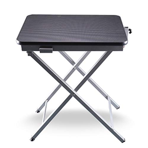Jlxl Professional Ring Side Dog Grooming Table Adjustable Portable Stainless Steel Non-slip Surface With Arm Noose And Accessories (Color : B)