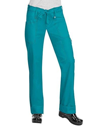 Koi Women's Niki Drawstring Elastic Waist Scrub Pant Xx-Large Turquoise