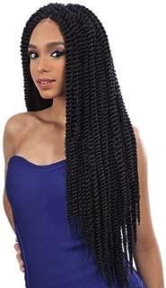 Que Jumbo Senegal Twist 2X (4 Medium Brown) - Crochet Bulk Braiding Hair by Freetress