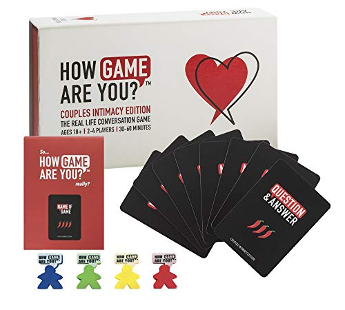 How Game Are You? Couples Game ❤️ 203 Conversation Cards and Board Create The Perfect Couple Game for Fun, Learning or Date Night Table Topics. Use as Ice-Breakers, Conversation Starters or Therapy.