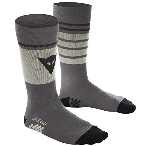 Dainese HG Socks Calcetines de MTB, Hombre, Gargoyle/Tender-Amarillo/Negro-Iris, S