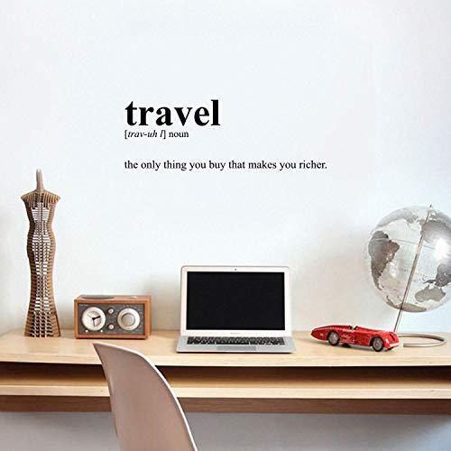 Wandtattoo aus Vinyl – Travel Definition – 30,5 x 88,9 cm – Modernes inspirierendes Reisen-Zitat für Zuhause, Schlafzimmer, Büro, Büro, Büro, Reisebüro, Dekoration, Aufkleber Modern 12