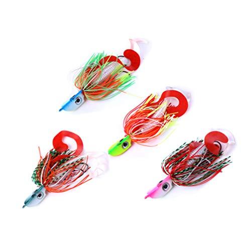 BESPORTBLE 4Pcs Borla Señuelo de Pesca Spinner AIT Bass Trout Hard Metal Spinner Cebos Spinner Señuelos Cebos Accesorios para Vacaciones Al Aire Libre