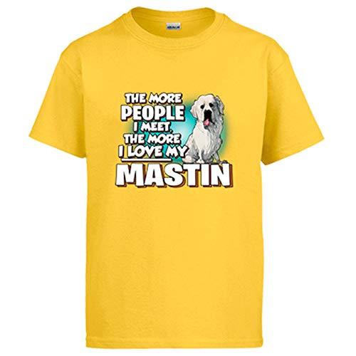 Diver Bebé Camiseta I Love my Mastín del Pirineo Raza Perro - Amarillo, M