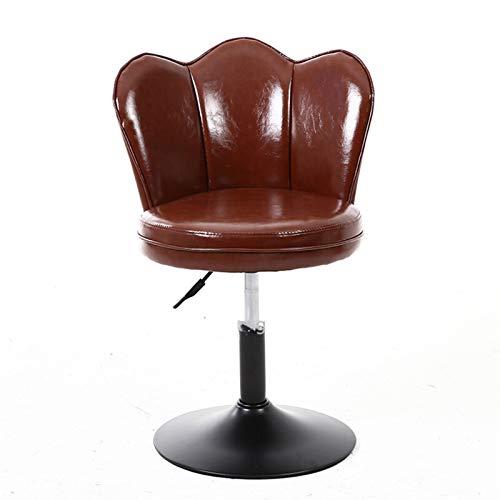 LOOEST Sgabello Sedia da Ufficio a Sollevamento Moderno di Alta qualità Sedie Anteriore cassiere Creative Sedie Nordic Rotating Sgabello Alto per Casa (Color : 2)