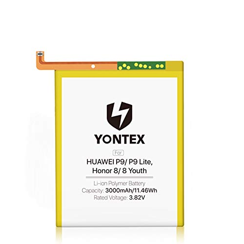 YONTEX Batería para Huawei P9/P9 Lite/Honor 8/Honor 8 Youth丨Batería de repuesto HB366481ECW con kit de recambio y pegatinas
