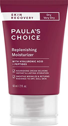 Paula's Choice Skin Recovery Feuchtigkeitscreme - Reichhaltige Nachtcreme Pflegt die Haut mit Peptide & Hyaluronsäure - auch für Rosazea Empfindliche Haut - Trockene Haut - 60 ml