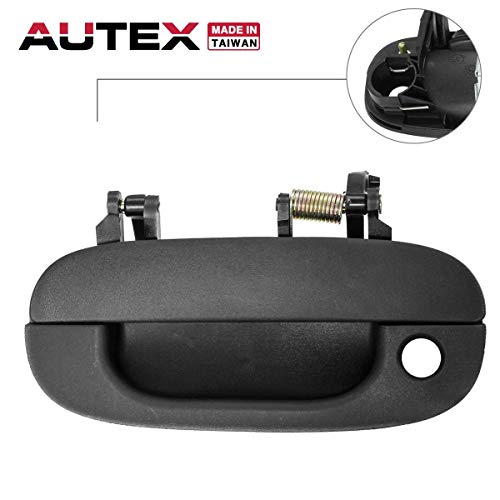 AUTEX Exterior Outside Front Left Driver Side Door Handle Compatible with Dodge Ram 2500 3500 1994-2002 Replacement for Dodge Ram 1500 Pickup Truck 94-01 77640
