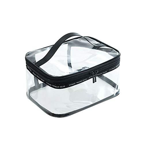 BASSK Sac De Maquillage De Voyage Transparent En PVC Transparent Cosmetic Toiletry Zip Cosmetic Wash Bags Pouch
