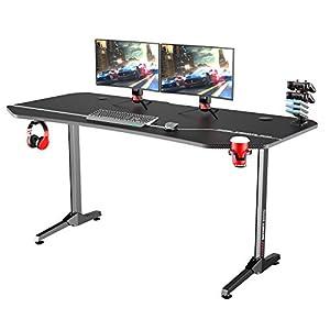 sogesfurniture Mesa de Juegos para Computadora, 160x70cm Mesa Escritorio Grande para PC Mesa Gaming con Portavasos y…