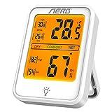 Aerb Higrómetro para interior, higrómetro y termómetro interior, medidor de humedad digital con...