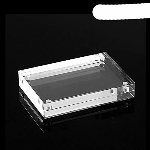 Imán de nevera de marco de fotos de acrílico en blanco transparente DIY personalizado-5.5x8.2cm