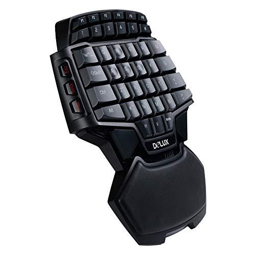 CX TECH Gaming-Tastatur Portable Half Keyboards Professionelle Einhand-USB-E-Sport-Gaming-Tastatur mit 47 Tasten