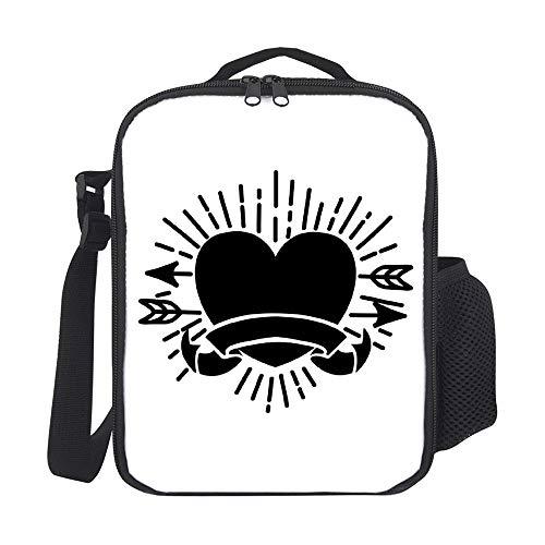 Bolsas de almuerzo aisladas para niños, con soporte para botellas, color negro, 20 unidades, para hombres, adultos, reutilizable, para el trabajo, escuela, picnic