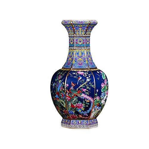 Vasi, vasi Decorativi in Ceramica, Oggetti in Ceramica, Decorazione della casa, Soggiorno, Antico Stile Cinese Accessori for la casa, vasi Classici, Stile Blu Cinese (Size : 26cm)