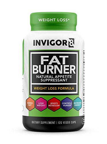 INVIGOR8 Fat Burner. Healthy Garcinia Weight Loss Supplement & Appetite Suppressant with Green Tea Leaf Extract (120 Veggie Capsules)